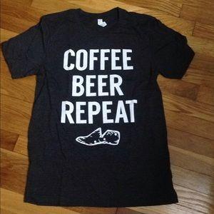 Coffee beer repeat tshirt